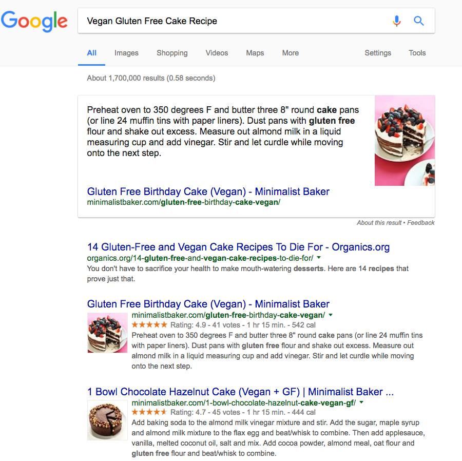 vegan gluten free cake recipe boost your google ranking
