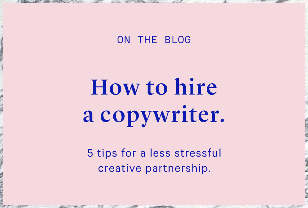 how to hire a copywriter