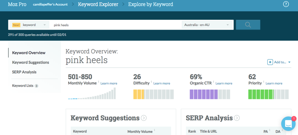 moz keyword explorer example