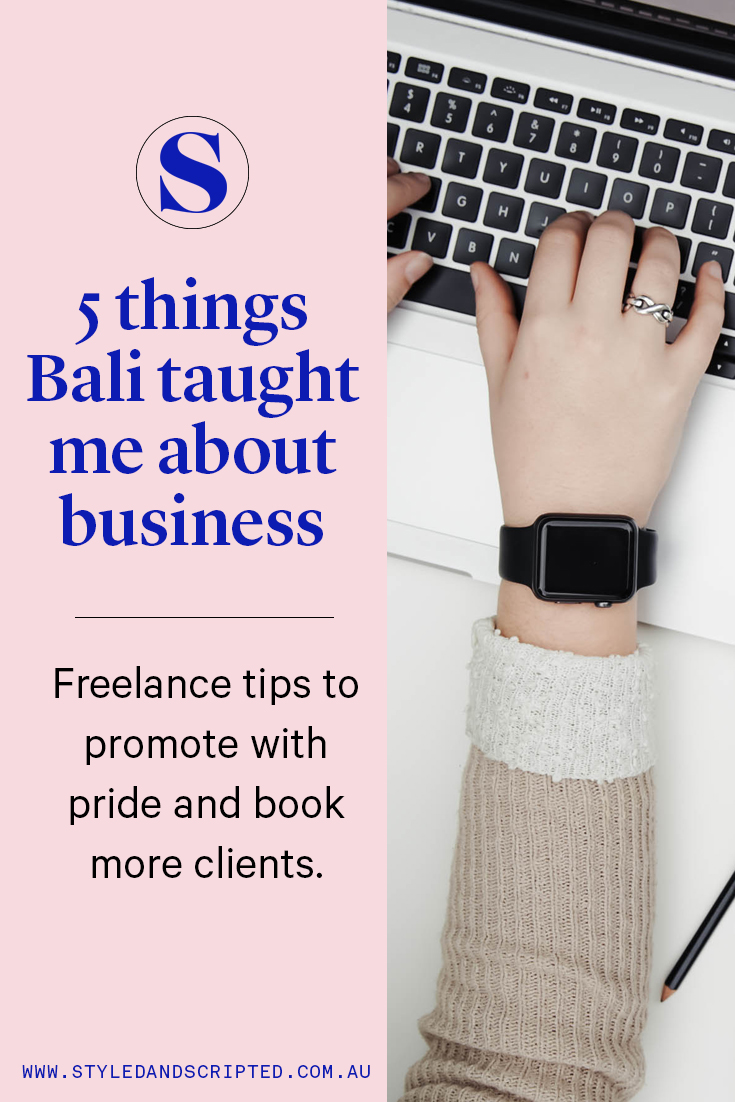 5 freelance tips I learned from a holiday in Bali!