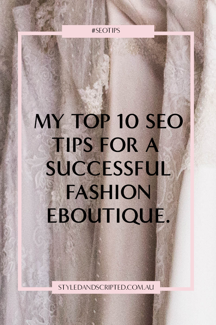 SEO FOR FASHION ECOMMERCE