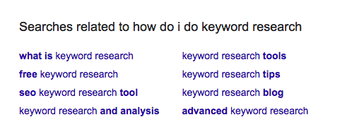 How to use Google Search for keyword research