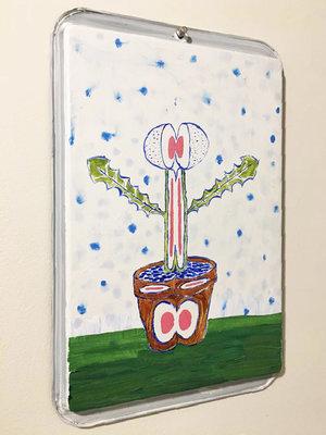 """(Baking Pan) """"Split Dandelion Painting"""""""