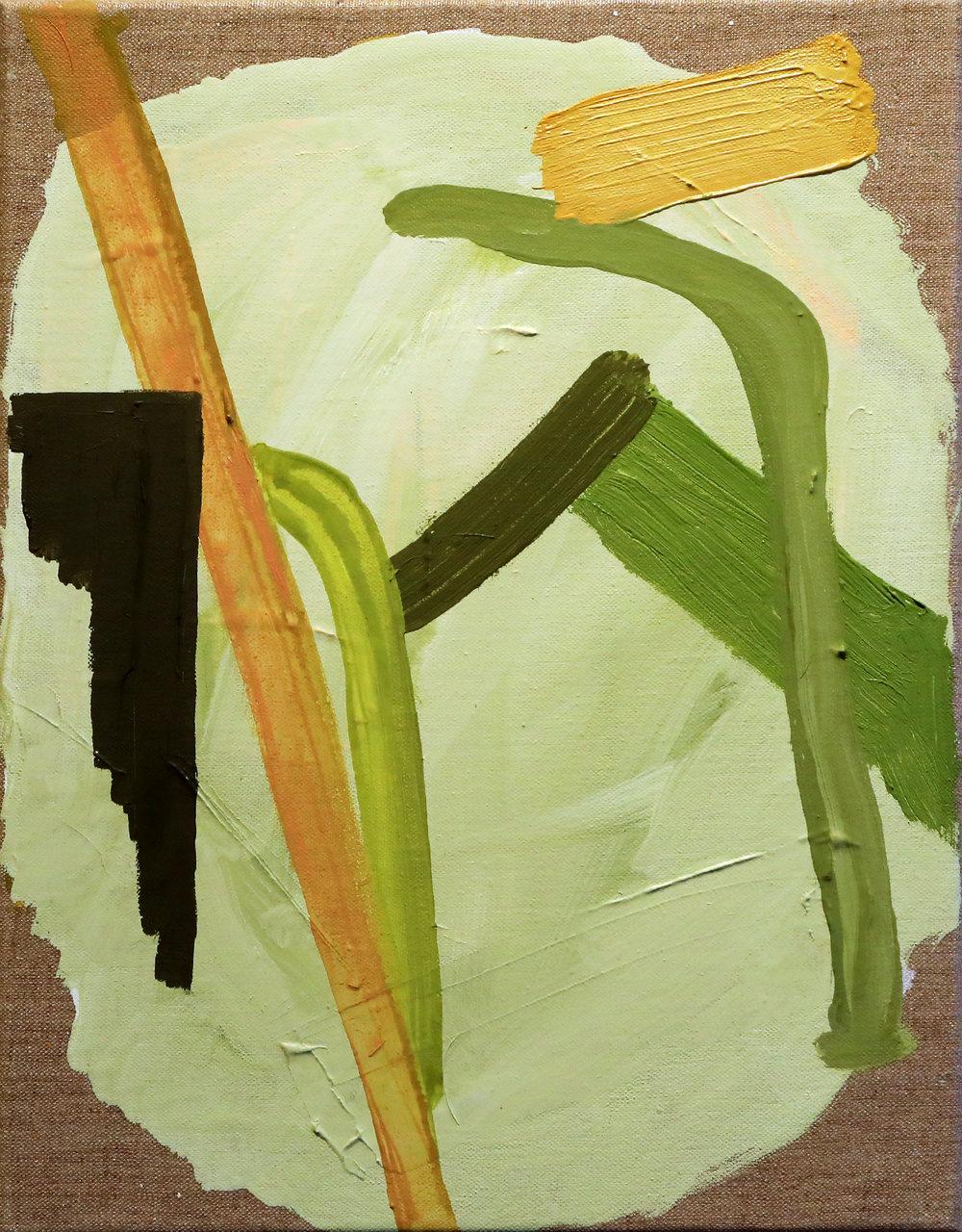 "Carri Jobe. ""Hooked."" 2017. Oil on Linen."
