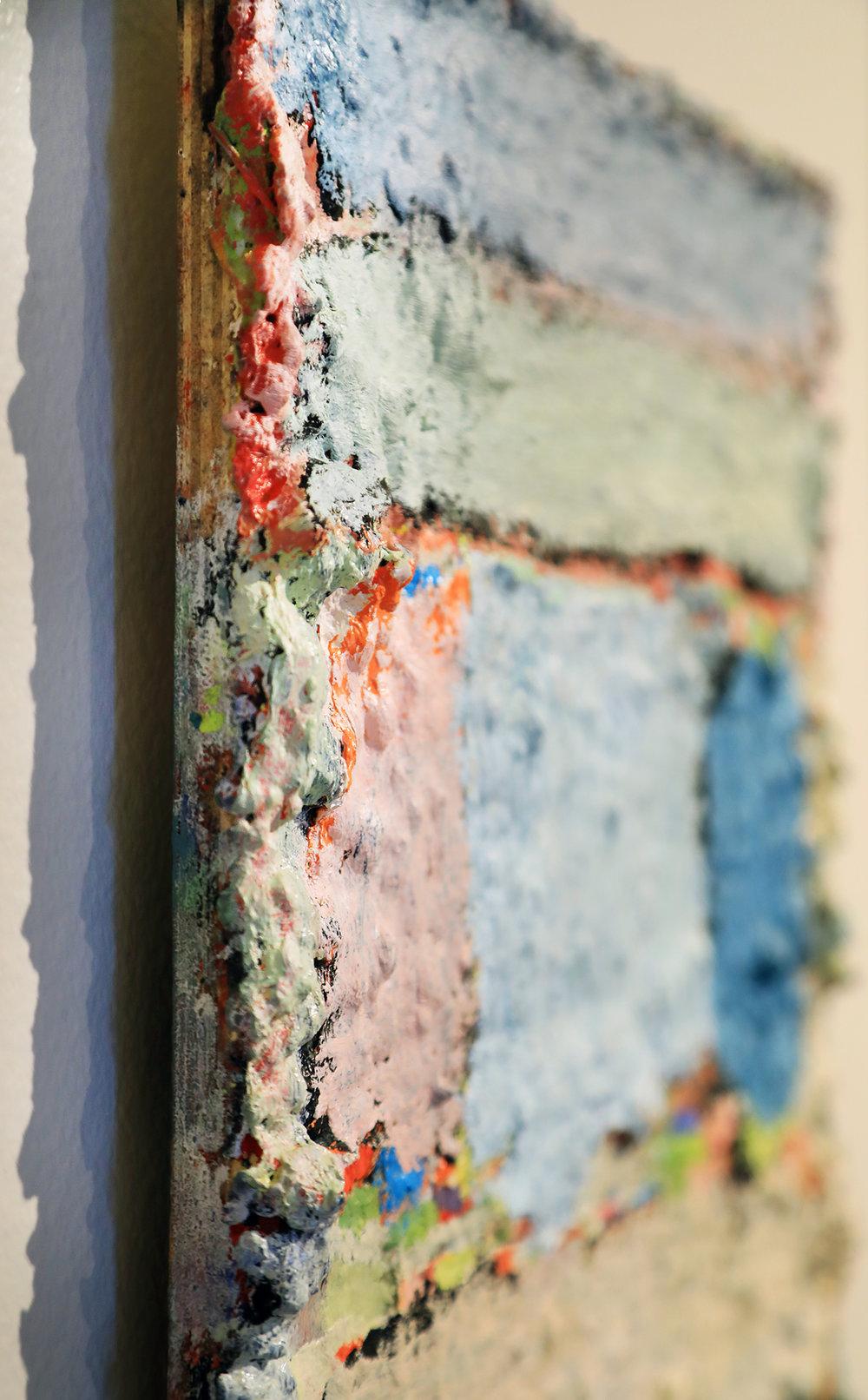 (detail) Douglas Degges.  Untitled.  2018. oil and gypsum on panel.