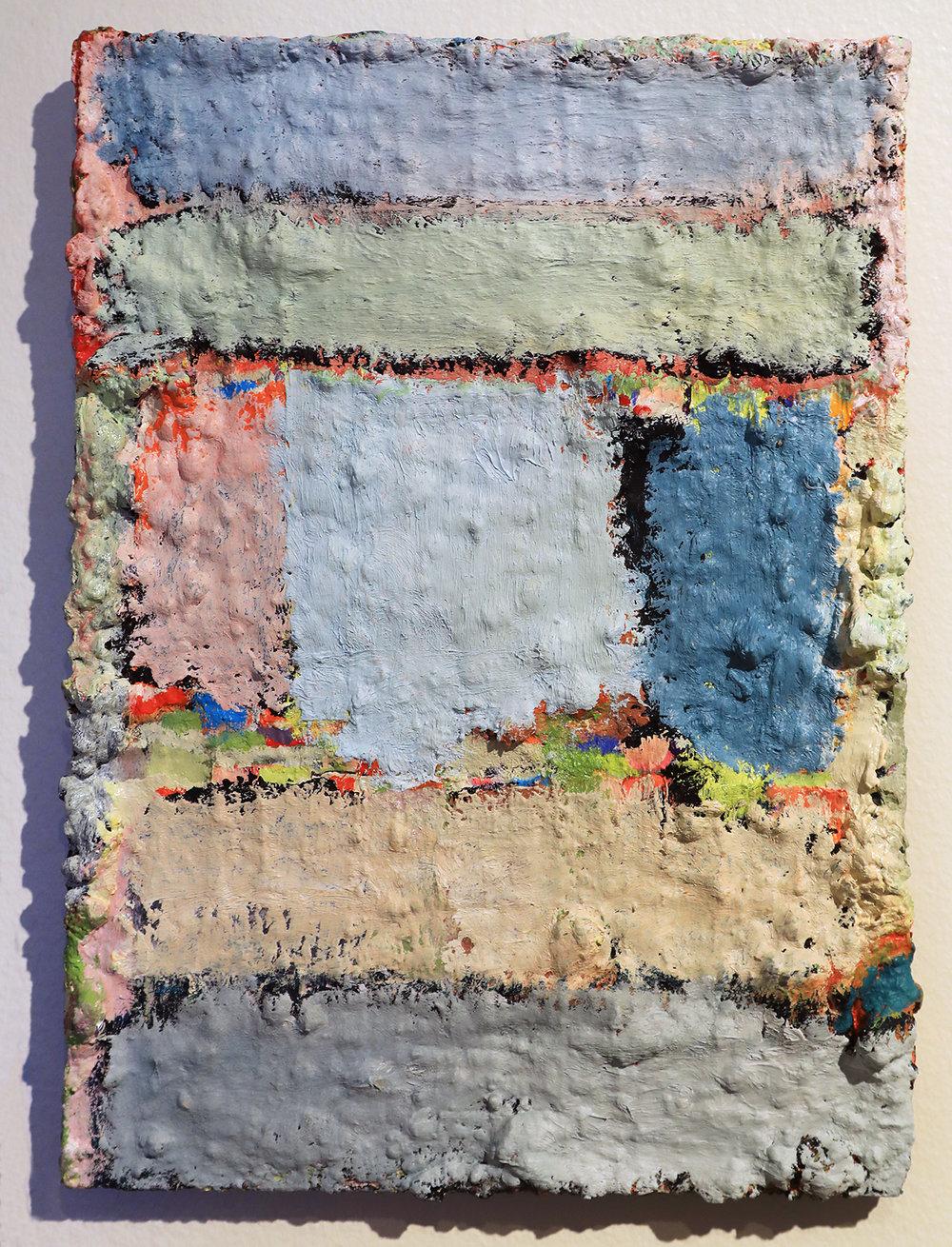 Douglas Degges.  Untitled.  2018. oil and gypsum on panel.