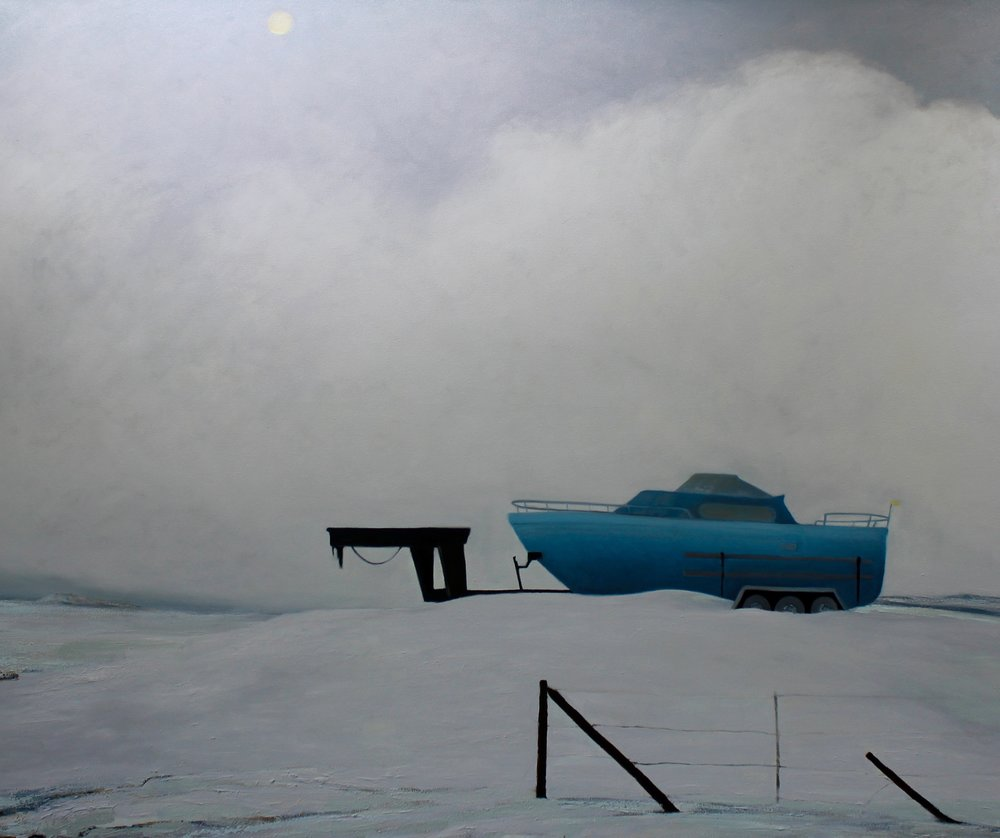 Snowbound Speed Boat