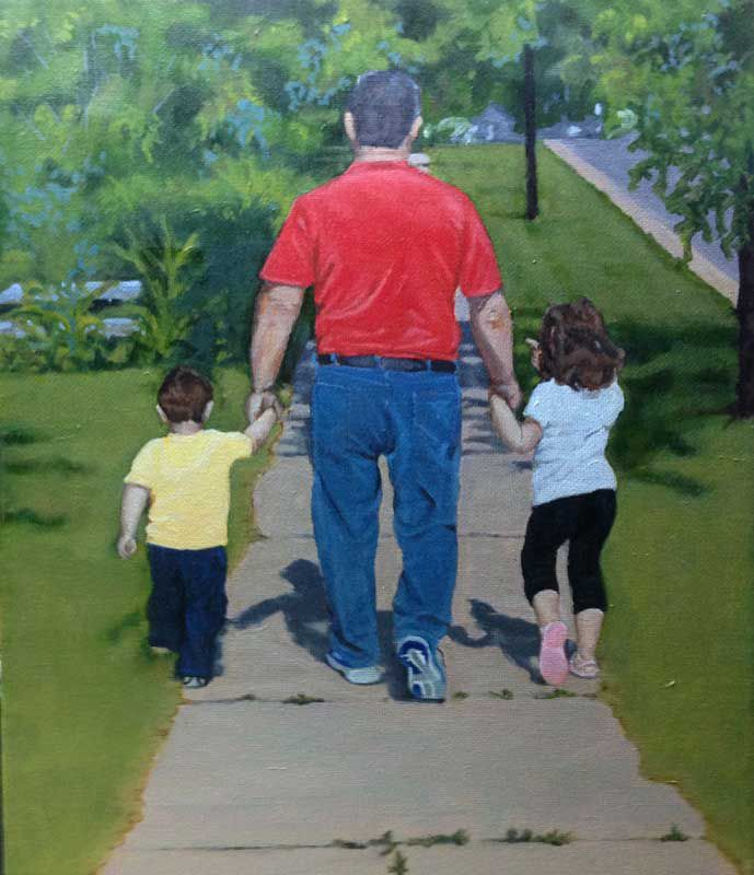 walking with grandpa