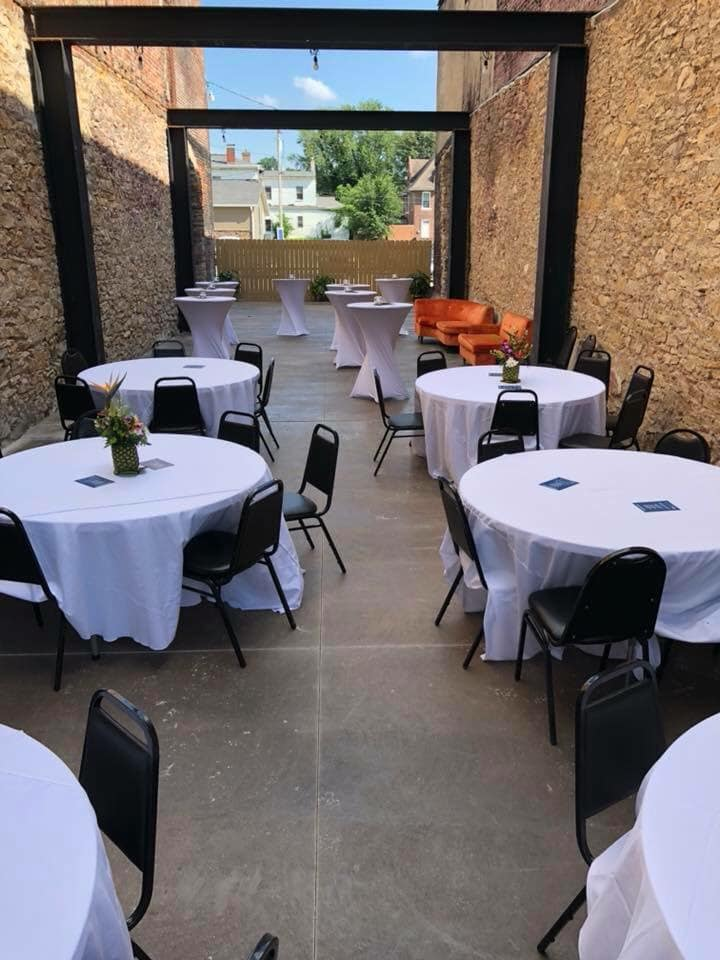 Included in your event.  An outdoor area for entertaining guests.