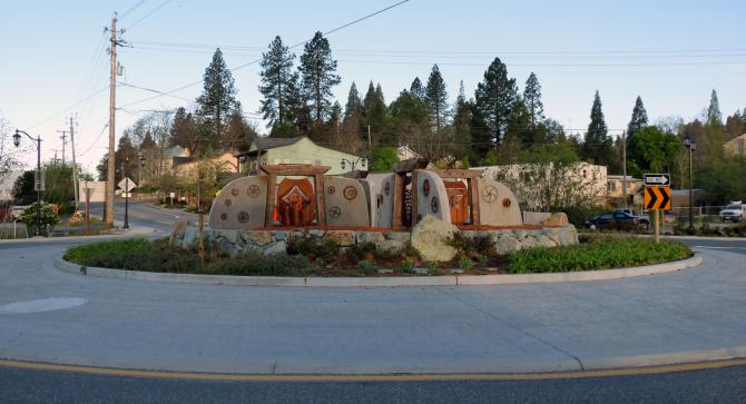 Traffic Circle, Grass Valley, CA
