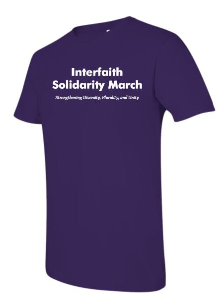 2017 shirt - The back says:#InterfaithMarchLA[IRTPJ logo]