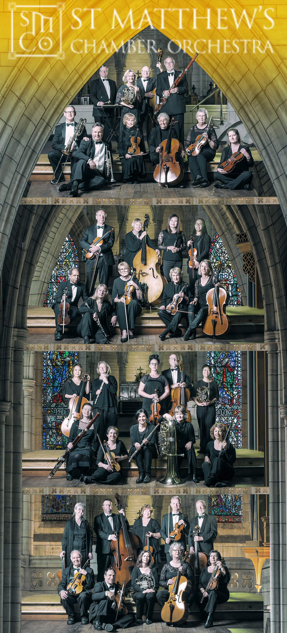 Group portrait of the St. Matthew's Chamber Orchestra