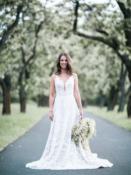 Spokane blush by Hayley Paige Delta wedding dress photo shoot smiling image