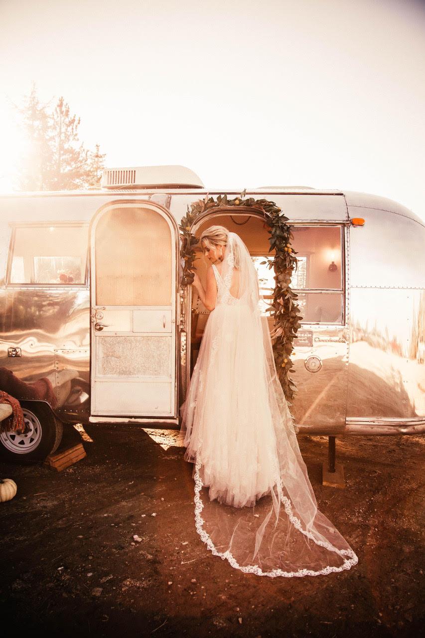 looking back in wedding dress spokane image