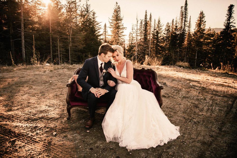sitting on couch image spokane wedding dress