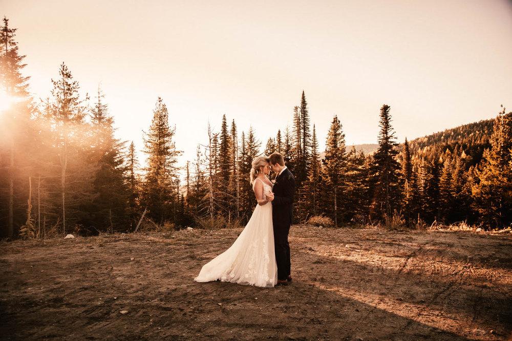 wedding dress in a field spokane image