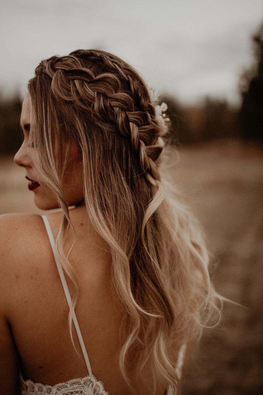 L'amour wedding dress back of gown braid in Spokane