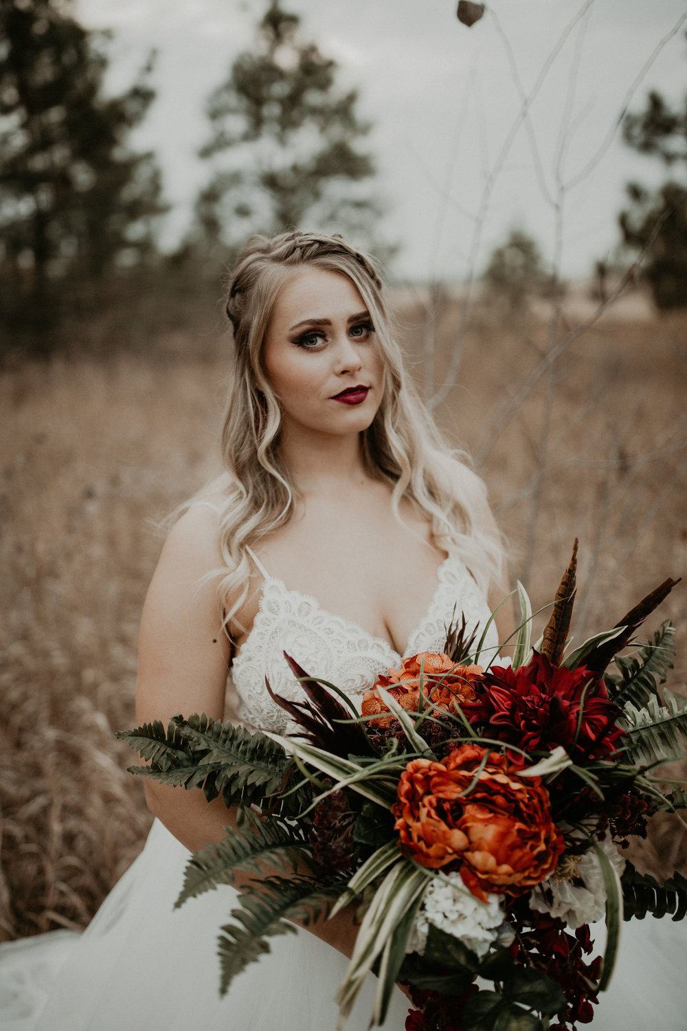 Fall floral bridal shoot
