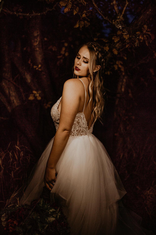 Evening fall bridal shoot spokane image