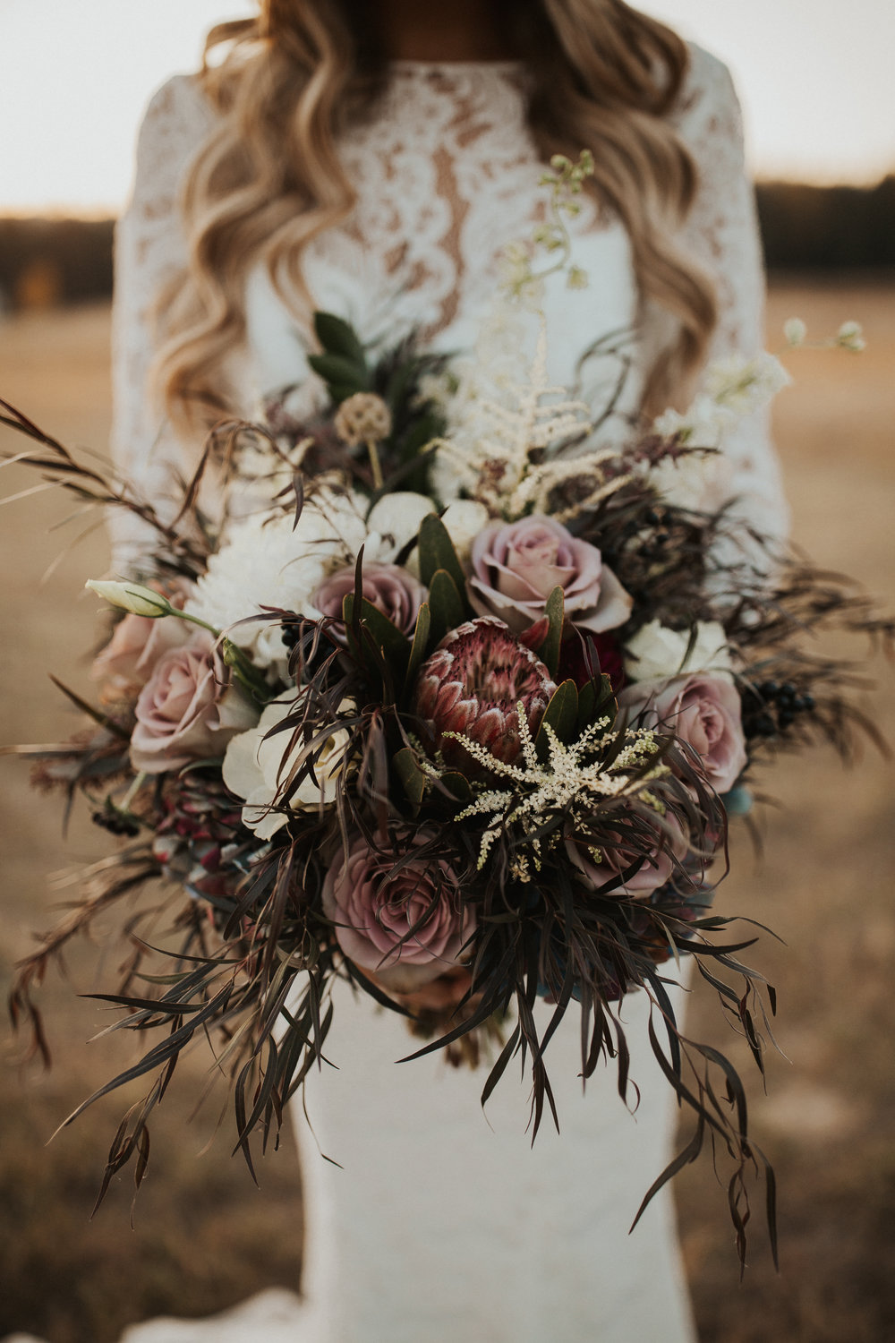 dusty rose floral bridal bouquet image
