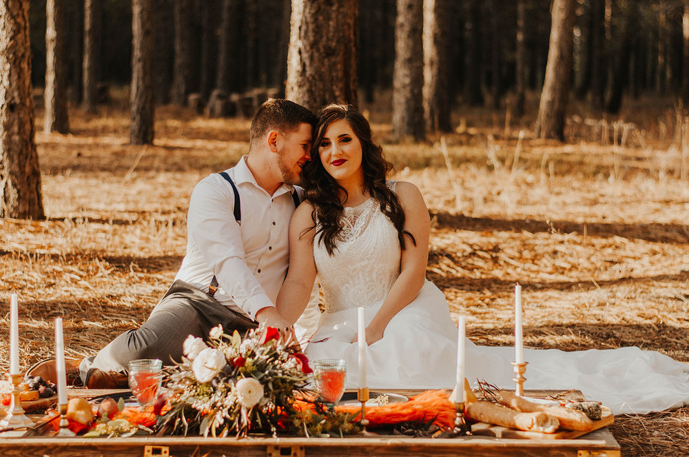 Spokane elopement wedding inspiration Foxwood house