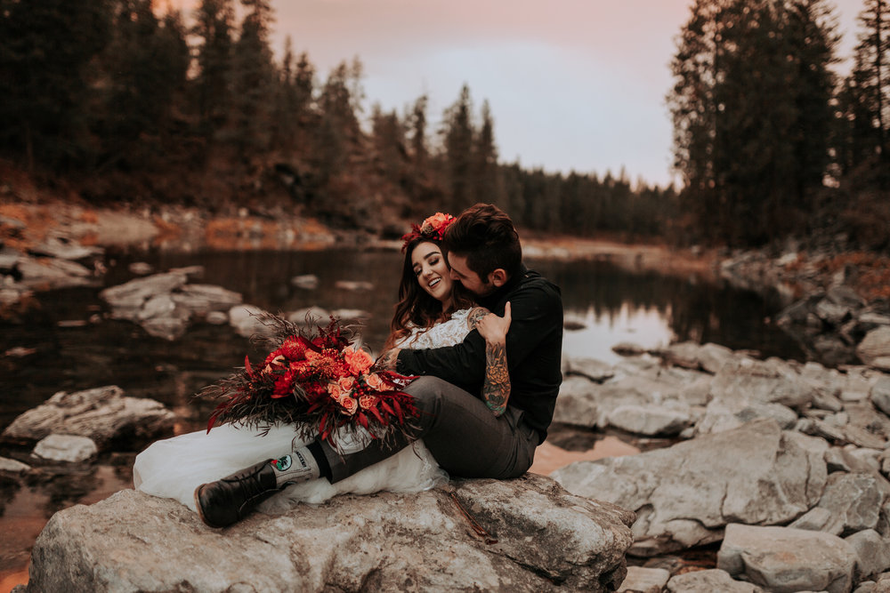 Spokane bridal photo shoot fall inspiration