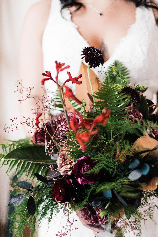 winter wedding bouquet spokane