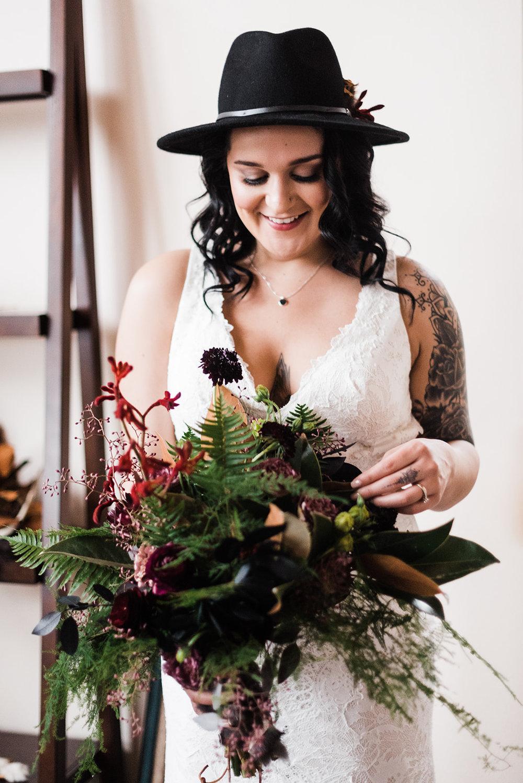 winter bride spokane black hat