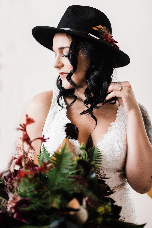 winter wedding spokane bride image