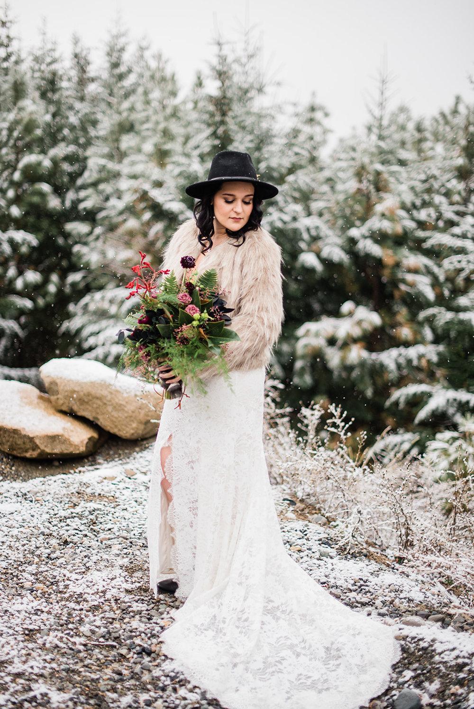 wedding dress Christmas image fur