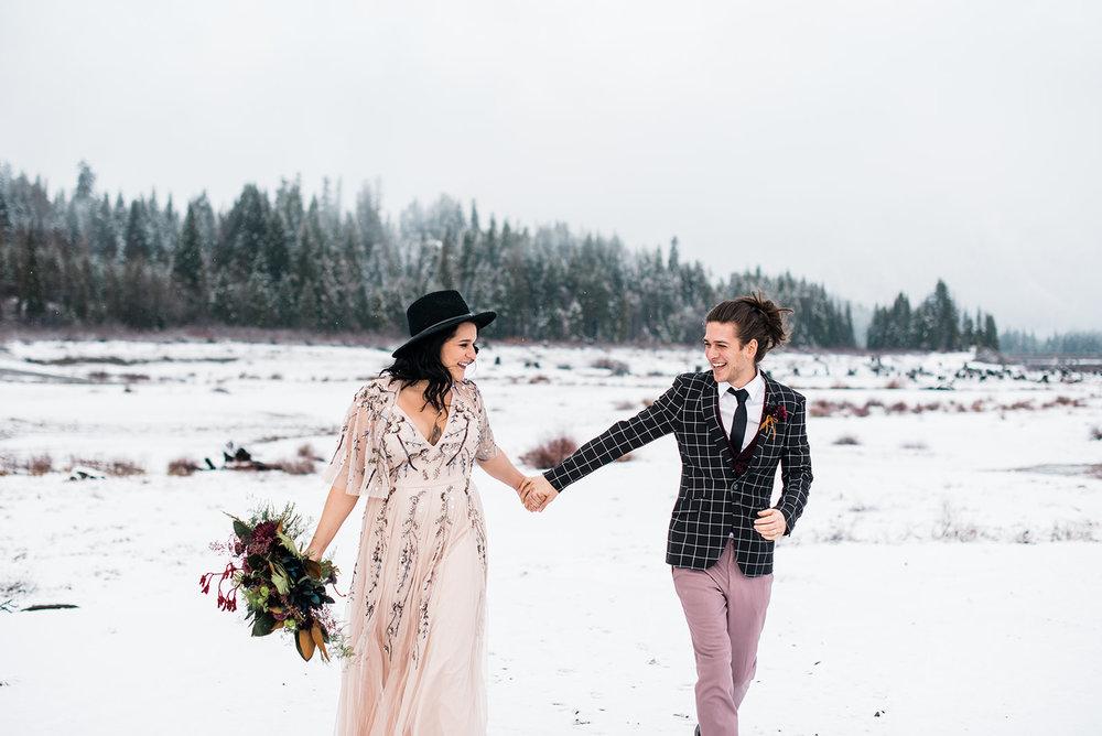 winter wedding dress spokane pink