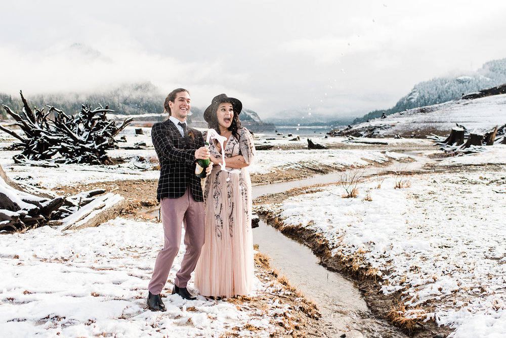 cheers wedding dress elopement spokane