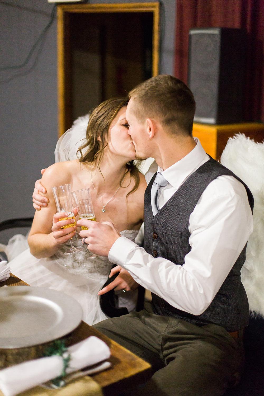 spokane wedding dress reception kiss