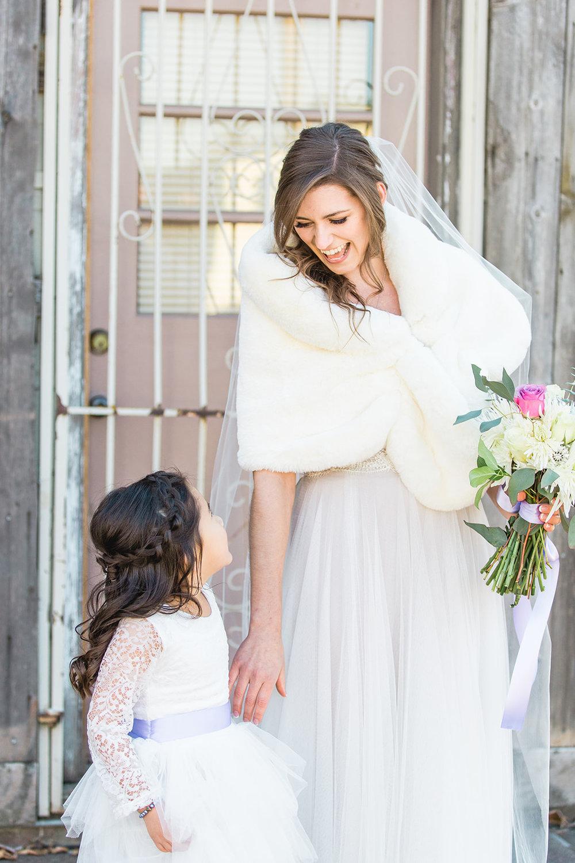 spokane bride and flower girl