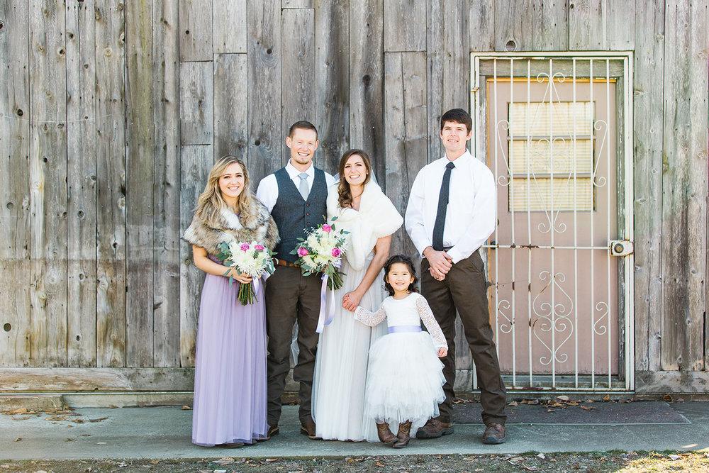 spokane wedding dress bridal party purple