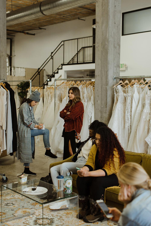 spokane wedding dress fashion show model prep