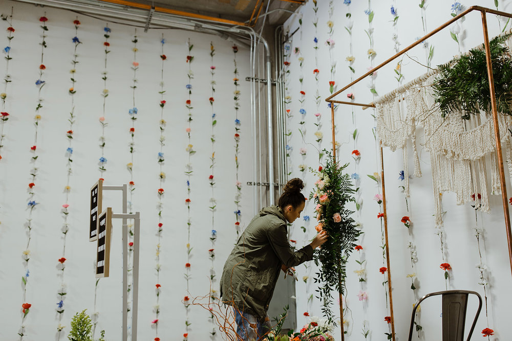 spokane wedding dress altar piece floral piece