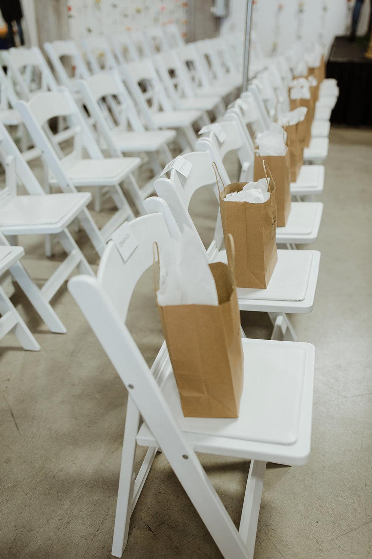 spokane wedding dress fashion show swag bag seating gift