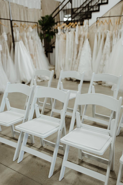 spokane wedding dress fashion show seating dresses white chairs