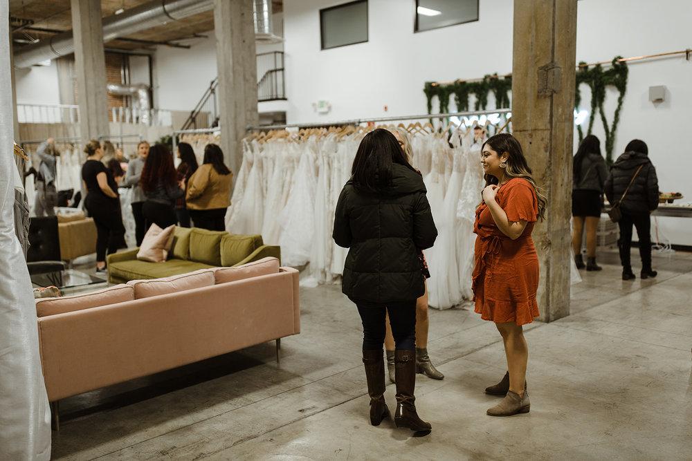 spokane wedding dress fashion show mingling alterationist stylist