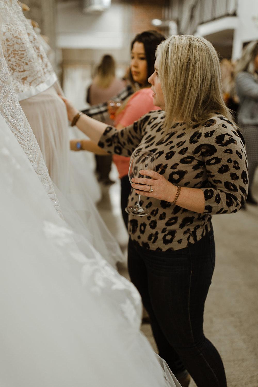 spokane wedding dress fashion show wine bride shopping