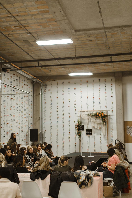 spokane wedding dress fashion show crowd waiting