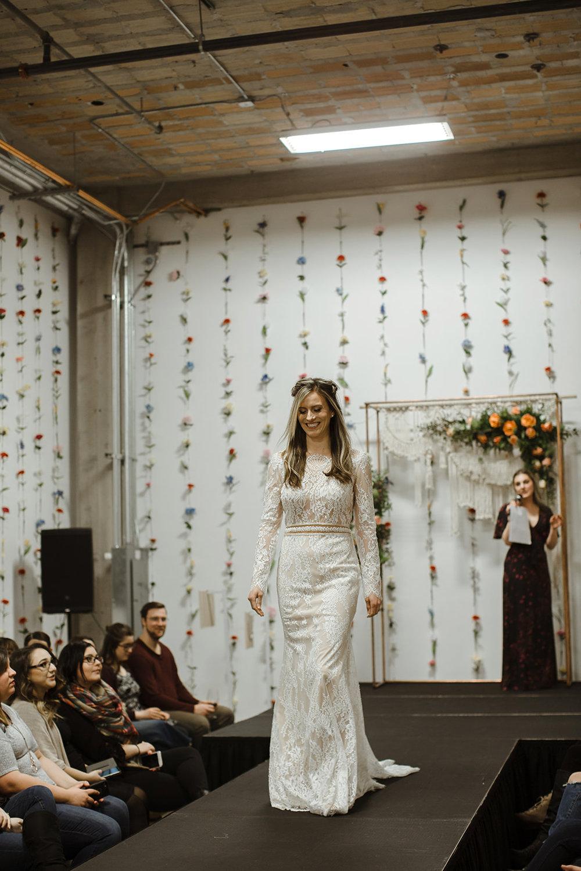 spokane wedding dress long sleeve fashion show bride runway