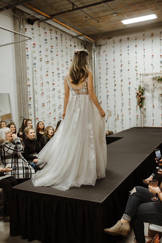 spokane wedding dress fashion show bride model