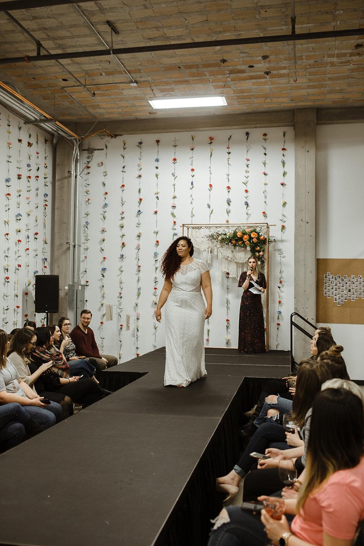 spokane wedding dress fashion show emcee bride model