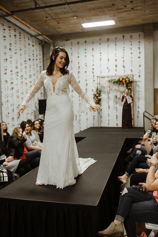 spokane wedding dress sleeves fashion show model