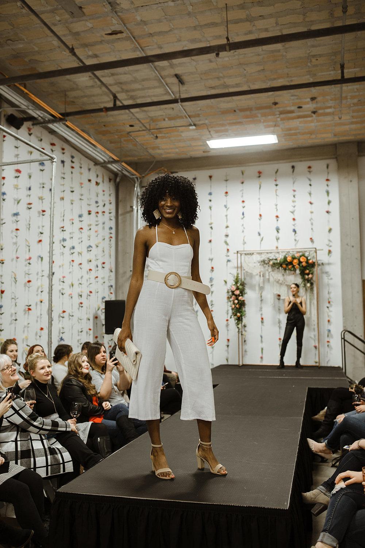 spokane wedding dress fashion show high waisted belt swank boutique