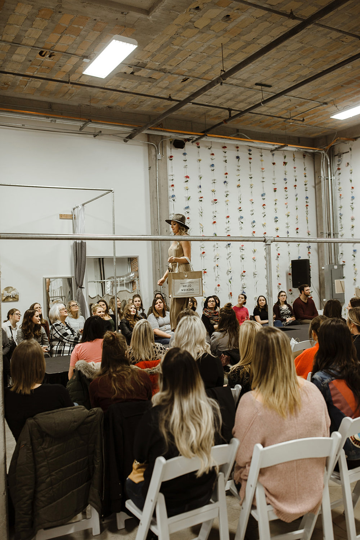 spokane wedding dress fashion show hello weekend hat model runway