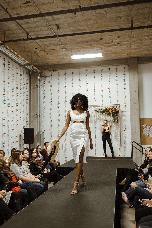 spokane wedding dress fashion show swank boutique sunglasses model