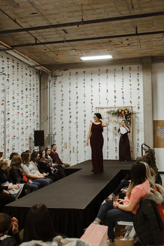 spokane wedding dress fashion show bridesmaid dark